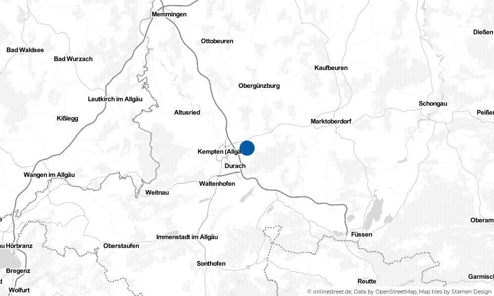 Karte: Wo liegt Betzigau?