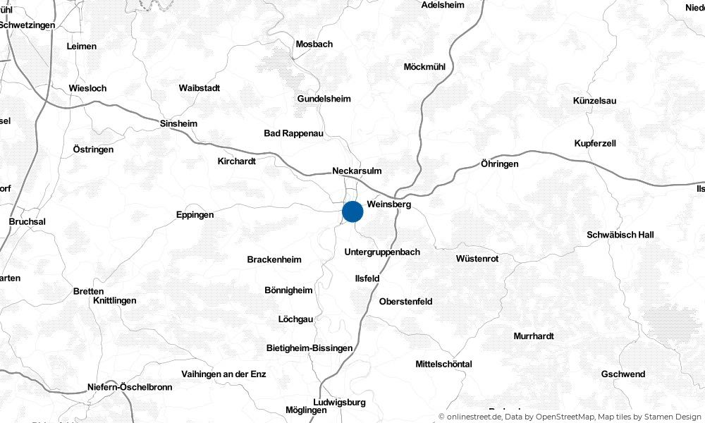 Karte: Wo liegt Heilbronn?