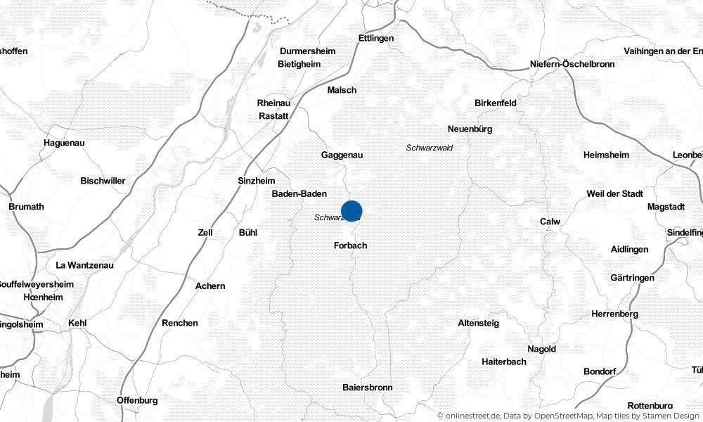Karte: Wo liegt Weisenbach?