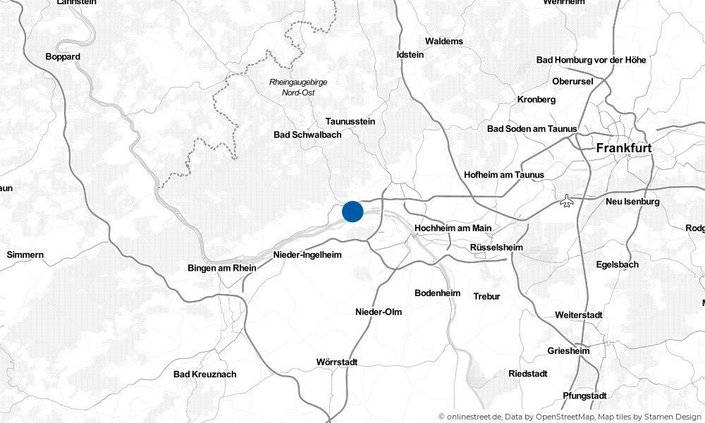 Karte: Wo liegt Walluf?