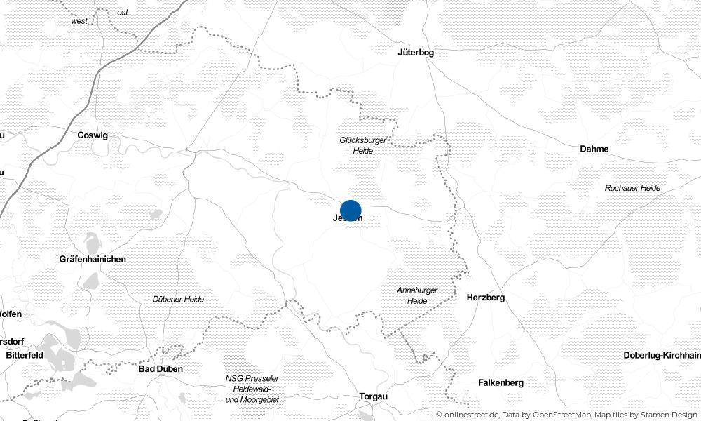 Karte: Wo liegt Jessen (Elster)?