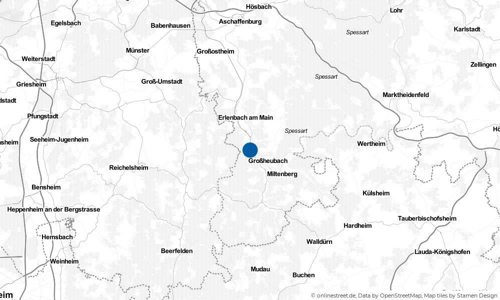 Karte: Wo liegt Laudenbach?