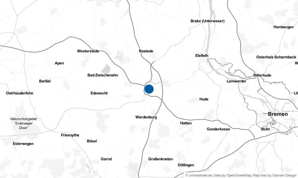 Karte: Wo liegt Oldenburg?