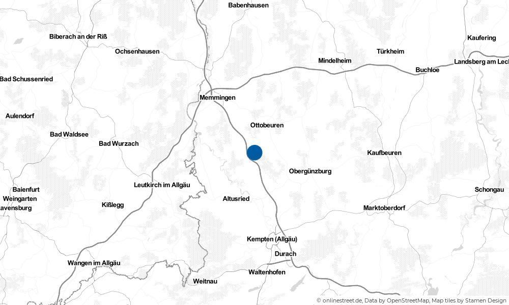 Karte: Wo liegt Wolfertschwenden?