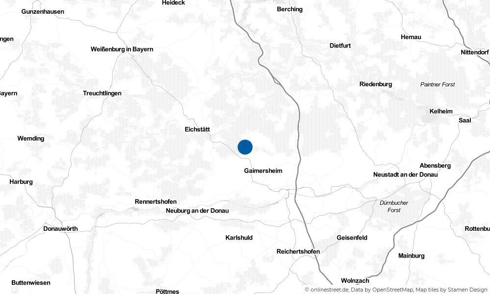 Karte: Wo liegt Hitzhofen?
