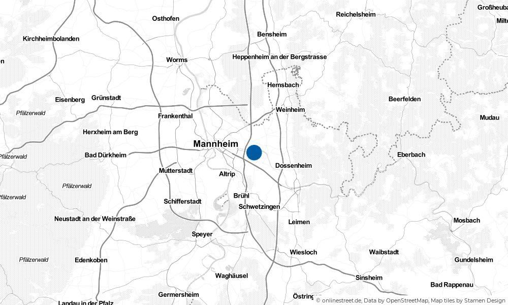 Karte: Wo liegt Ilvesheim?
