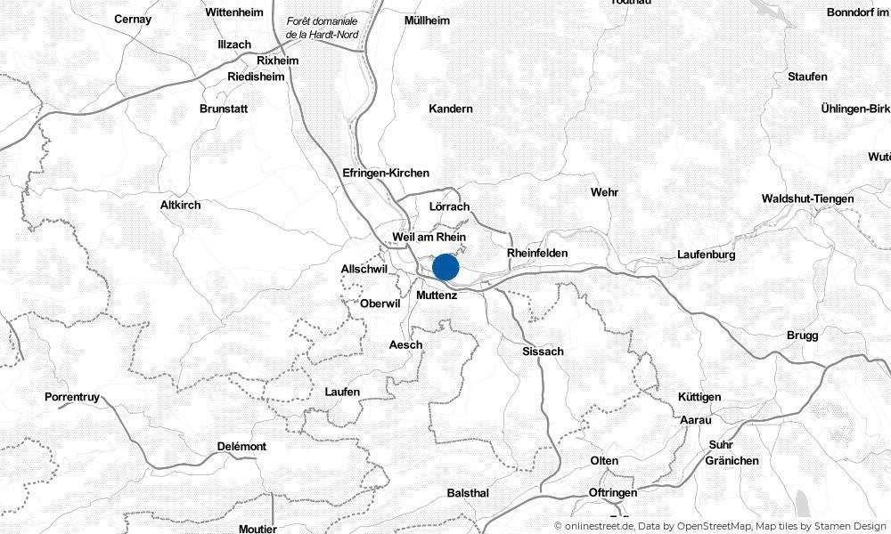 Karte: Wo liegt Grenzach-Wyhlen?