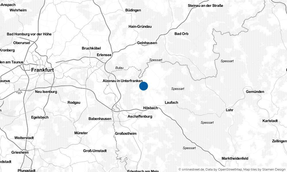 Karte: Wo liegt Mömbris?