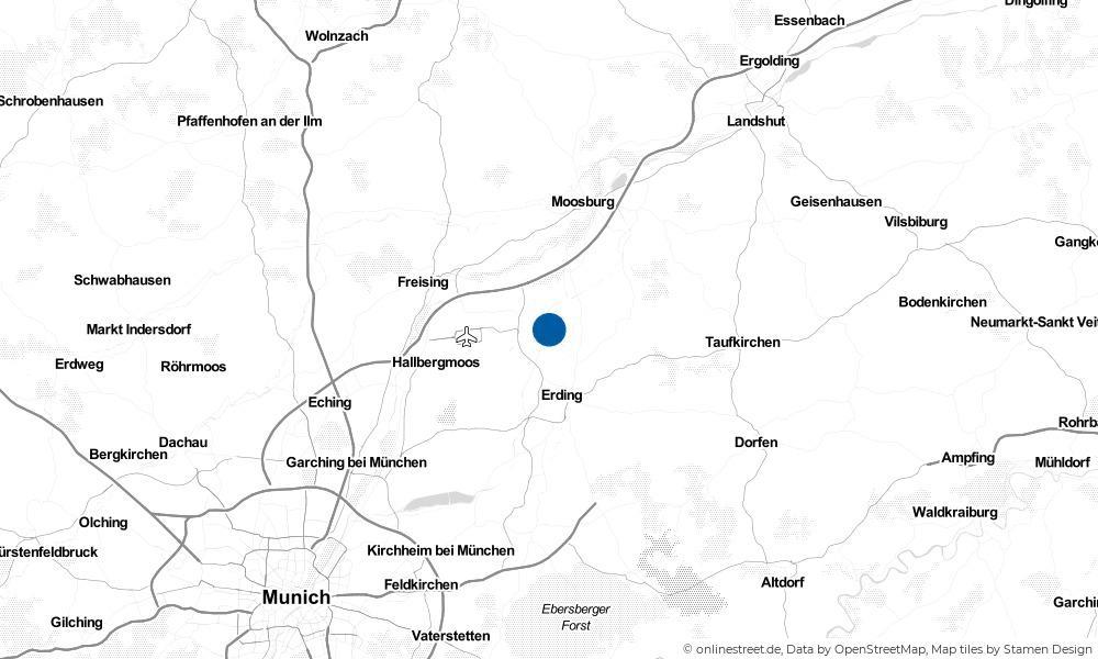 Karte: Wo liegt Eitting?