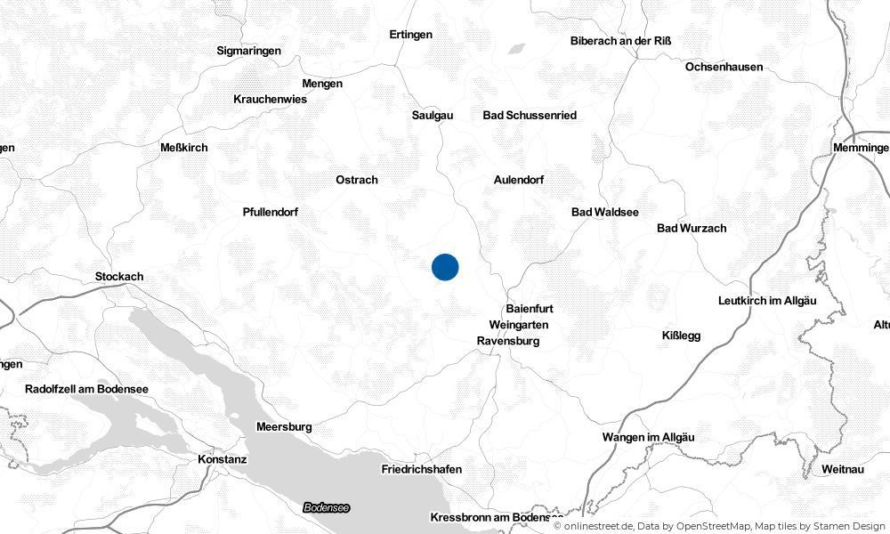 Karte: Wo liegt Fronreute?