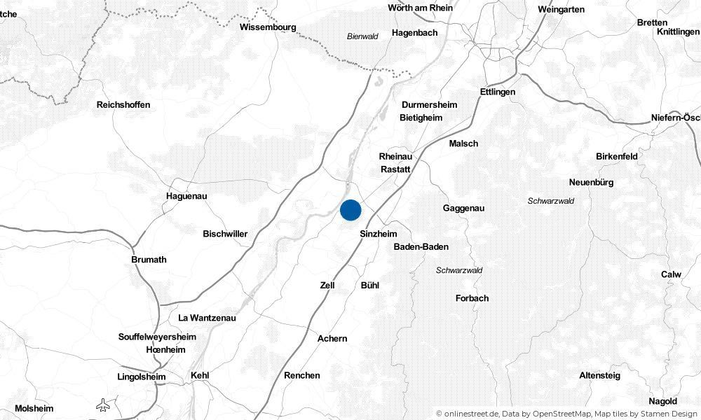 Karte: Wo liegt Hügelsheim?
