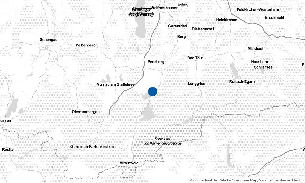 Karte: Wo liegt Kochel am See?