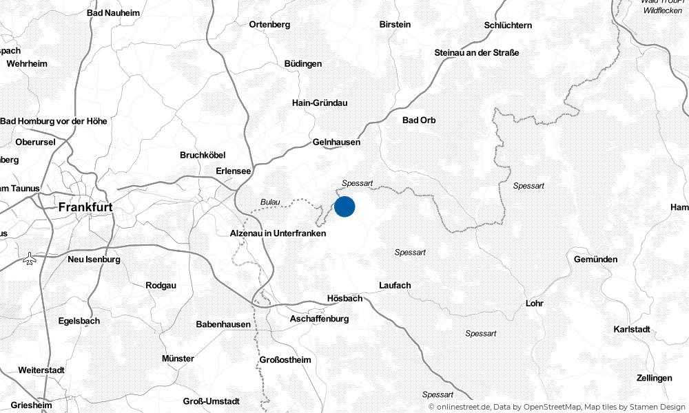 Karte: Wo liegt Geiselbach?