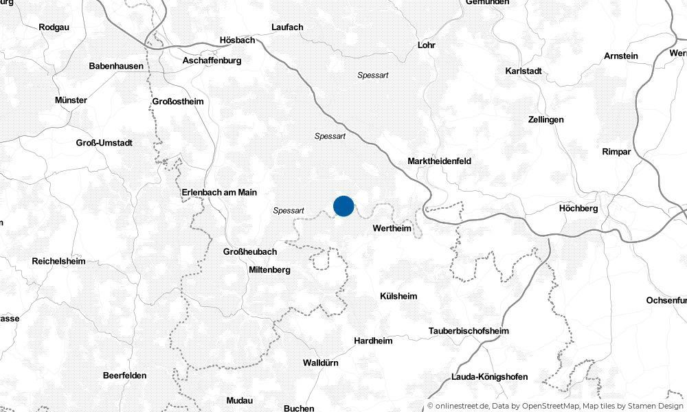 Karte: Wo liegt Stadtprozelten?