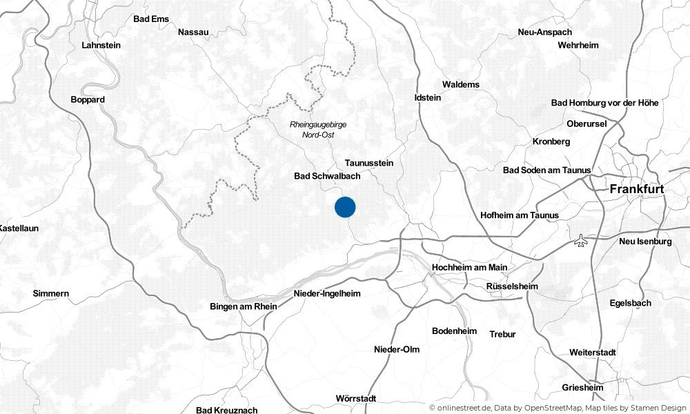 Karte: Wo liegt Schlangenbad?