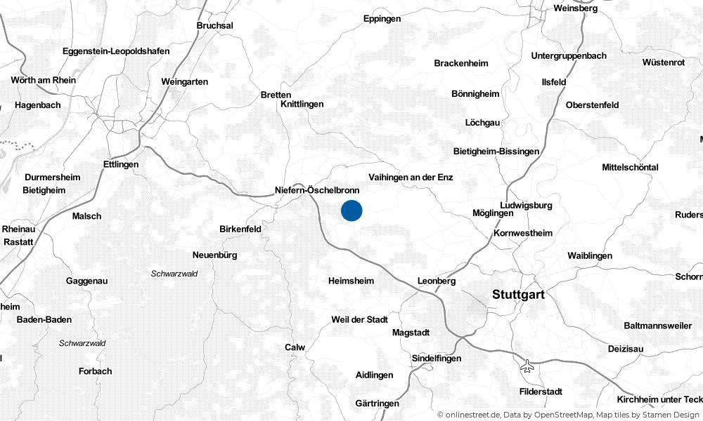 Karte: Wo liegt Wiernsheim?