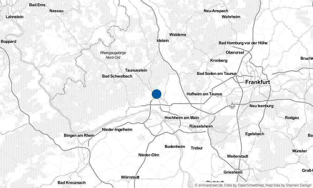 Karte: Wo liegt Wiesbaden?