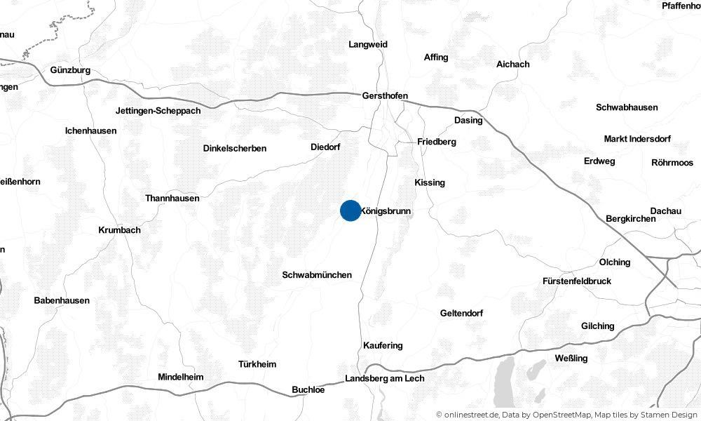Karte: Wo liegt Bobingen?