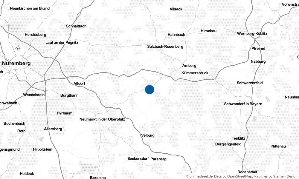 Karte: Wo liegt Kastl?