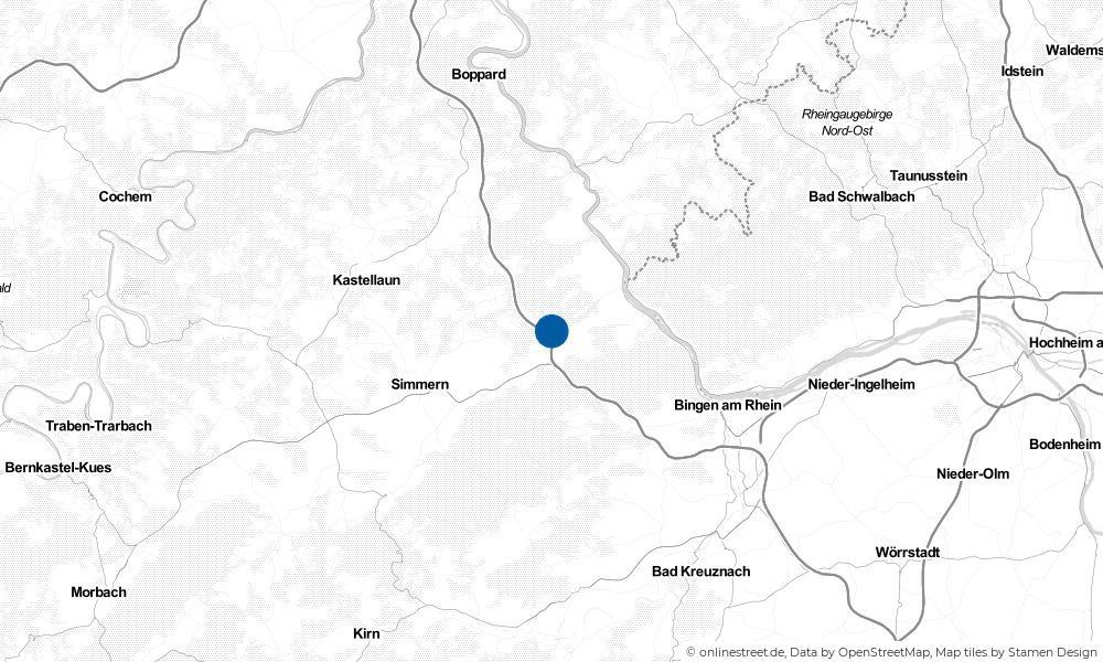 Karte: Wo liegt Erbach?
