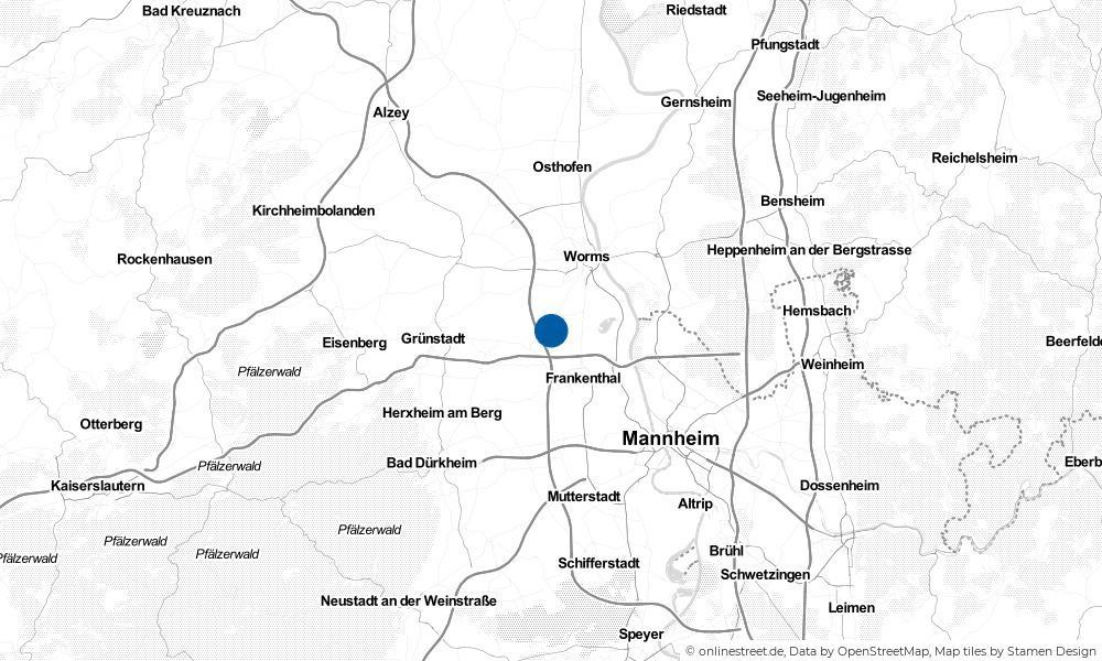 Karte: Wo liegt Großniedesheim?
