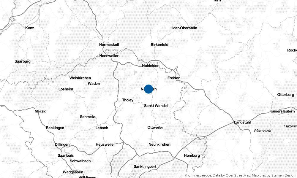 Karte: Wo liegt Namborn?