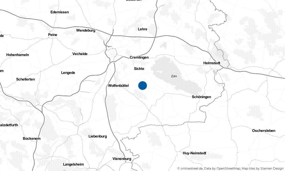 Karte: Wo liegt Dettum?