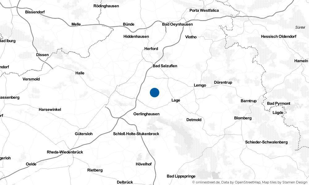 Karte: Wo liegt Leopoldshöhe?