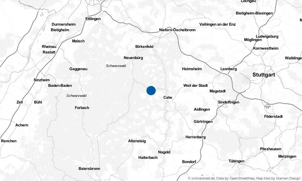 Karte: Wo liegt Oberreichenbach?