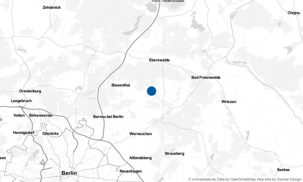 Karte: Wo liegt Breydin?