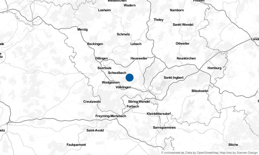 Karte: Wo liegt Püttlingen?