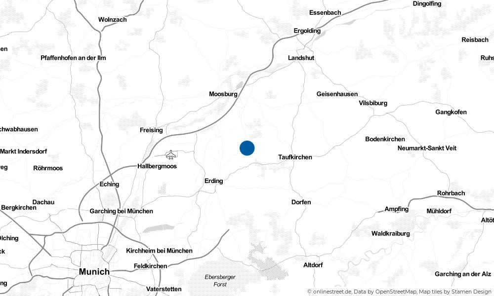 Karte: Wo liegt Fraunberg?