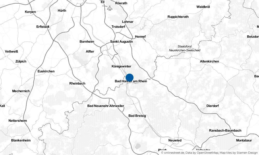 Karte: Wo liegt Bad Honnef?