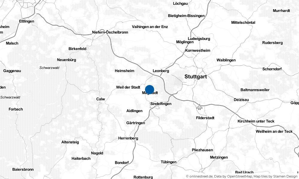 Karte: Wo liegt Magstadt?