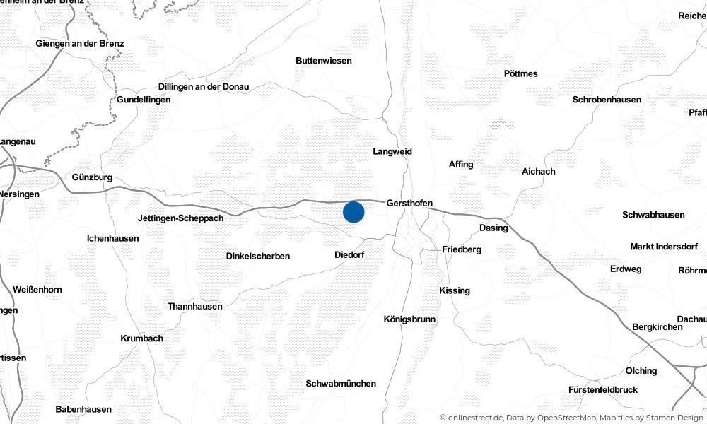 Karte: Wo liegt Aystetten?