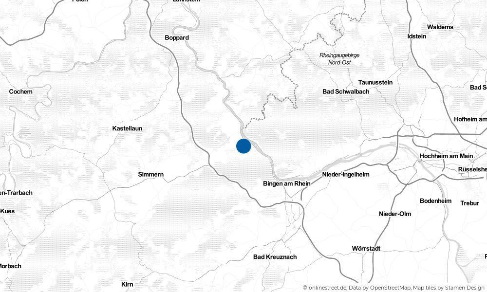 Karte: Wo liegt Oberdiebach?
