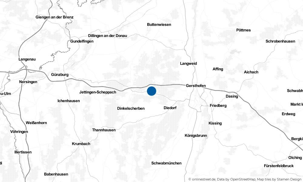 Karte: Wo liegt Horgau?