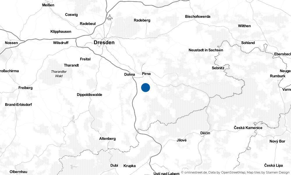 Karte: Wo liegt Dohma?