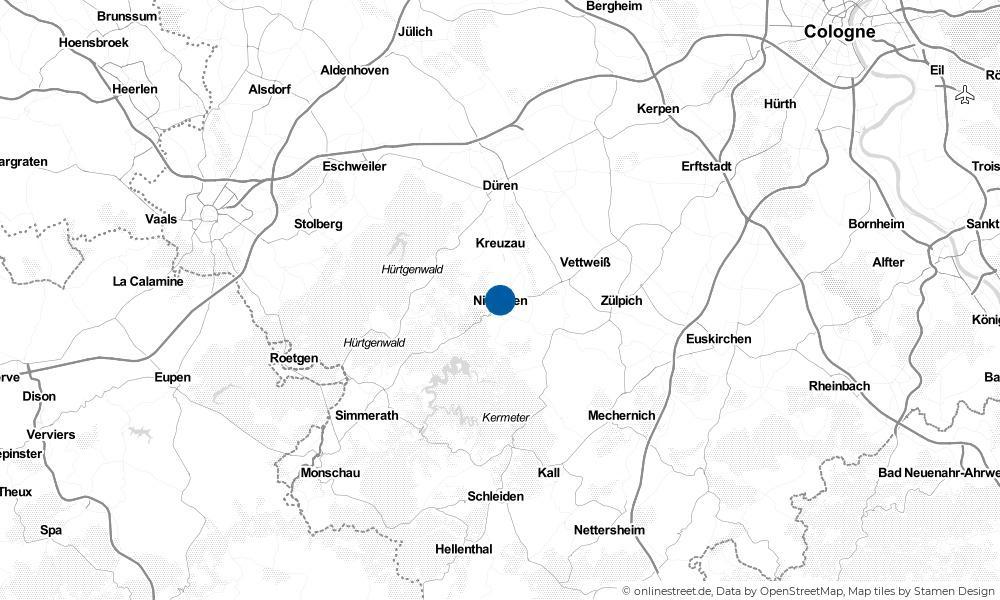 Karte: Wo liegt Nideggen?