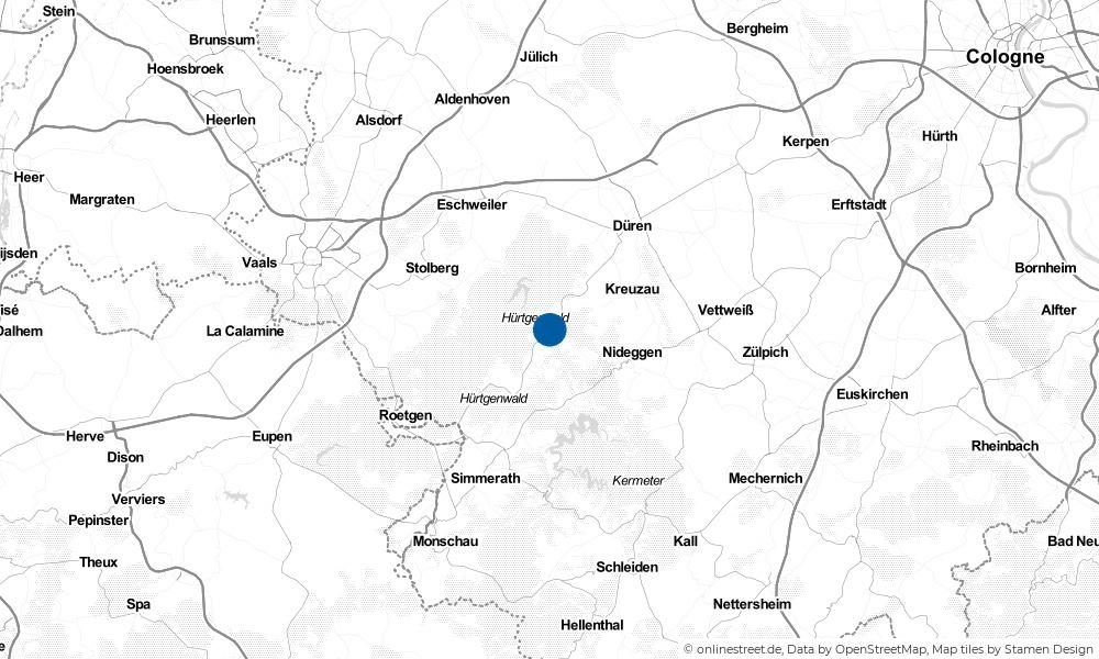 Karte: Wo liegt Hürtgenwald?
