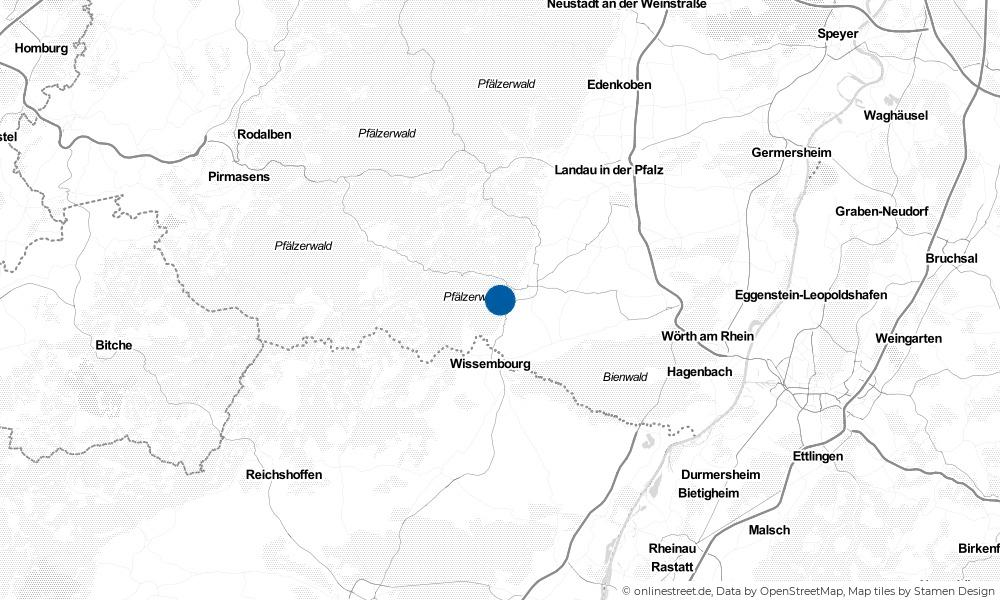 Karte: Wo liegt Dörrenbach?