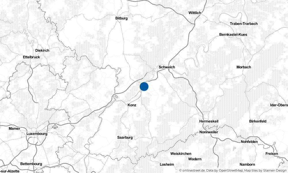 Karte: Wo liegt Trier?