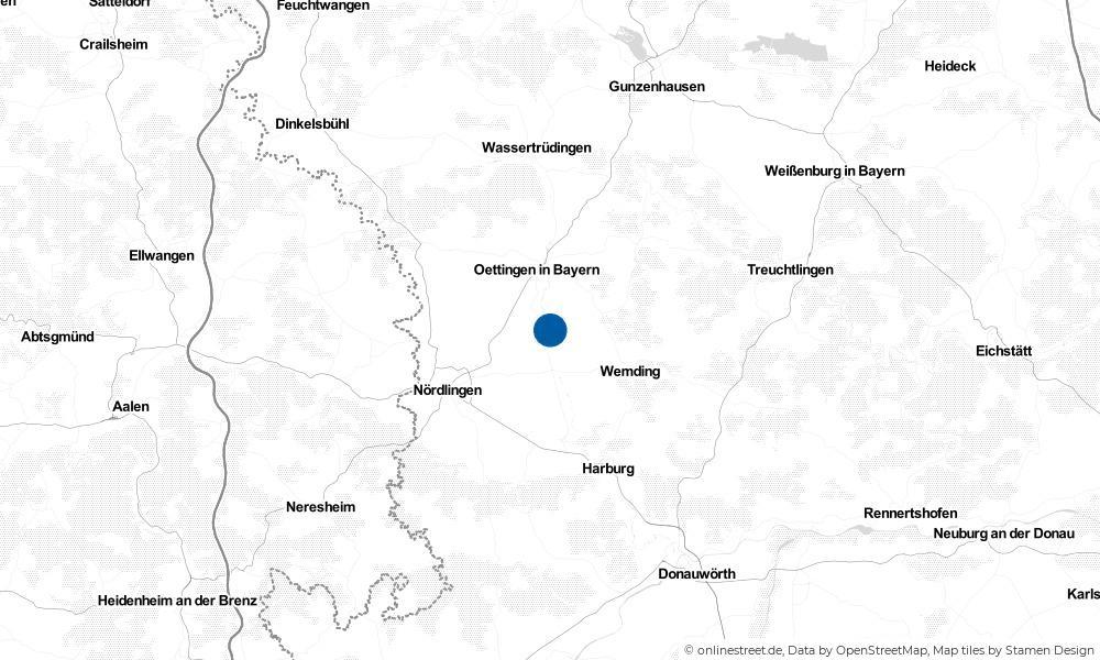 Karte: Wo liegt Wechingen?
