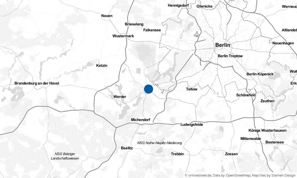 Karte: Wo liegt Potsdam?