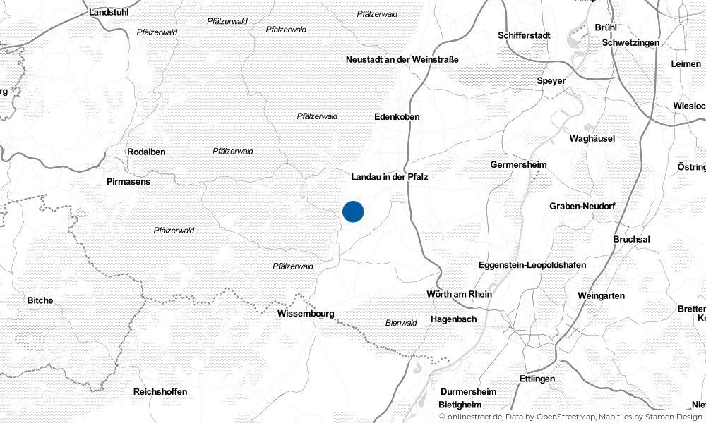 Karte: Wo liegt Göcklingen?