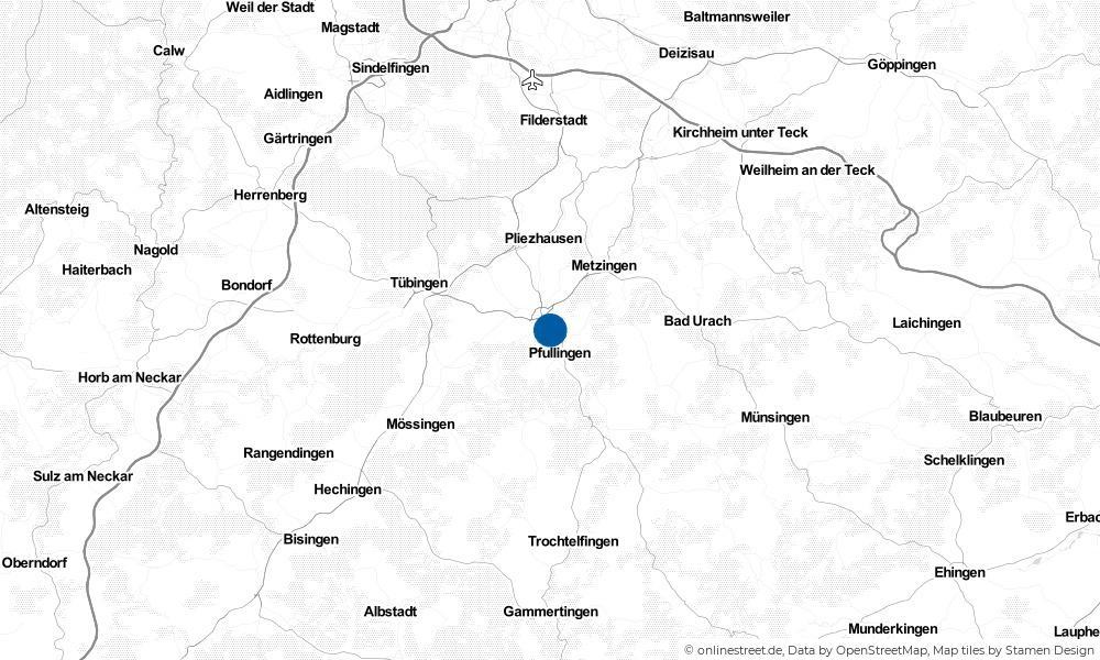 Karte: Wo liegt Reutlingen?