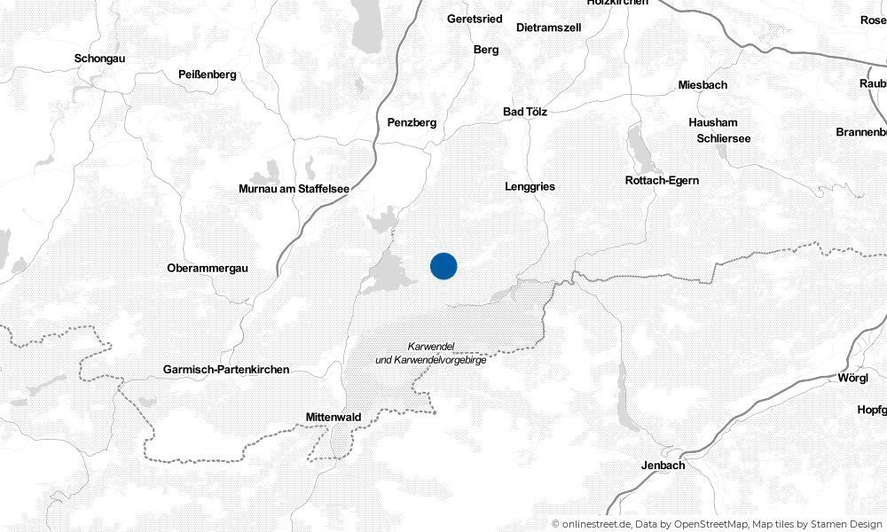 Karte: Wo liegt Jachenau?