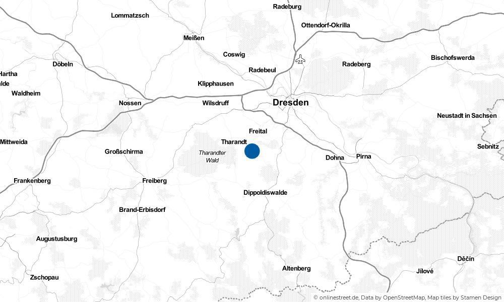 Karte: Wo liegt Rabenau?