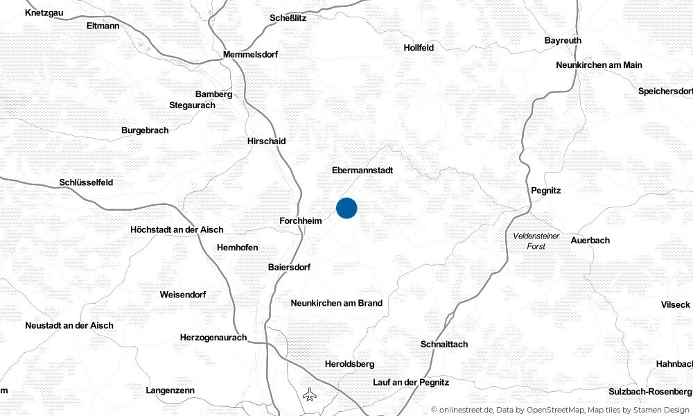 Karte: Wo liegt Kirchehrenbach?