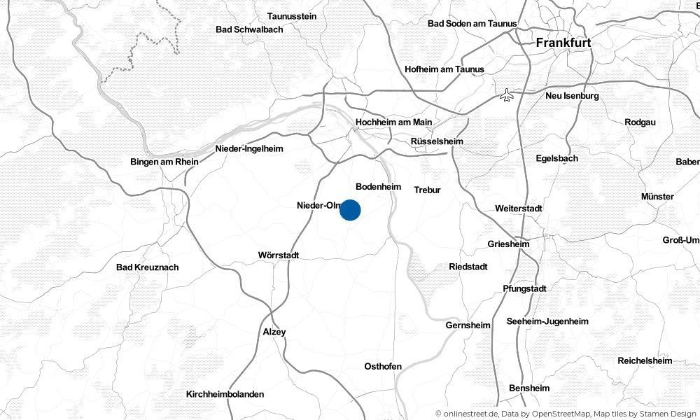 Karte: Wo liegt Harxheim?
